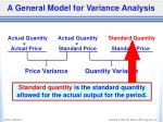 a general model for variance analysis4