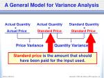 a general model for variance analysis6