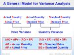 a general model for variance analysis7