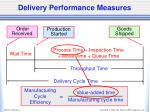 delivery performance measures1