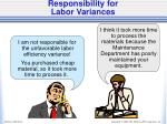 responsibility for labor variances1