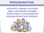 setting standard costs