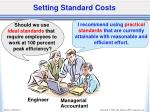 setting standard costs1