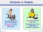 standards vs budgets