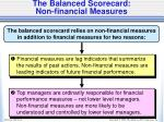 the balanced scorecard non financial measures
