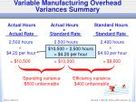 variable manufacturing overhead variances summary1