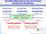 variable manufacturing overhead variances summary2