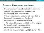 document frequency continued