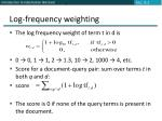 log frequency weighting