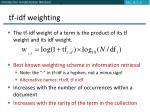 tf idf weighting