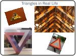 triangles in real life