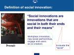 definition of social innovation