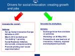 drivers for social innovation creating growth and jobs1