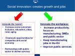 social innovation creates growth and jobs