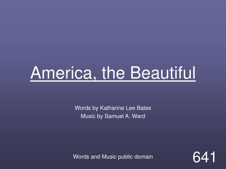 america the beautiful n.