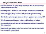 7 key points to take home