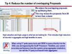 tip 4 reduce the number of overlapping proposals