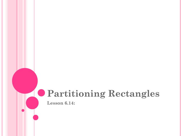 partitioning rectangles n.