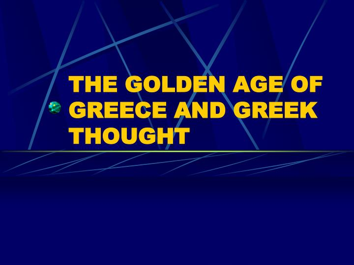 the golden age of greece and greek thought n.
