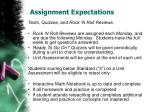 assignment expectations