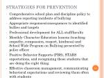 strategies for prevention