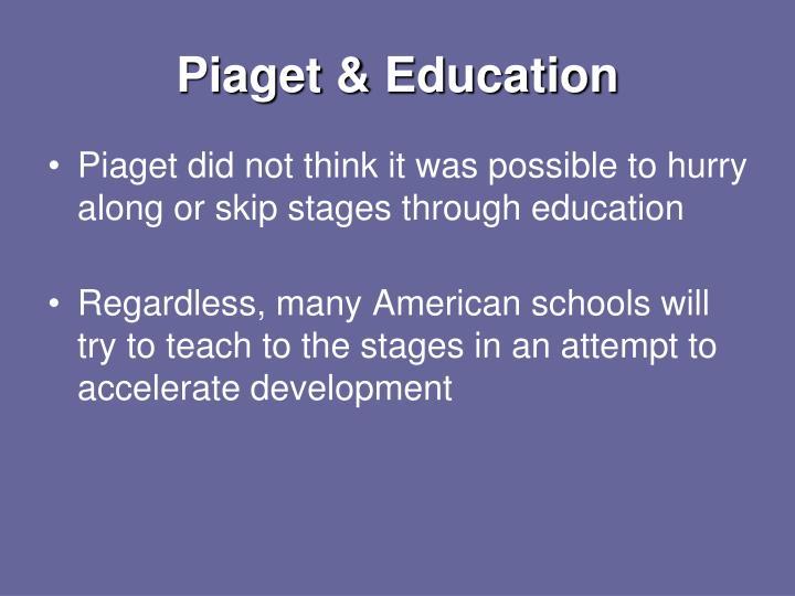 Piaget & Education