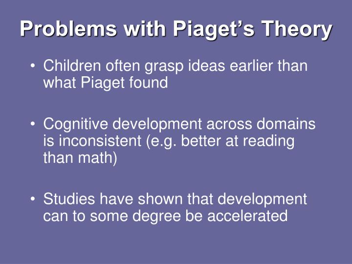 Problems with Piaget's Theory