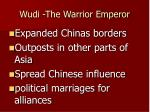 wudi the warrior emperor