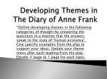 developing themes in the diary of anne frank