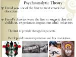 psychoanalytic theory1