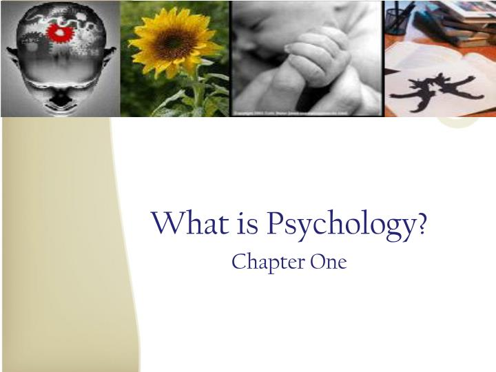 what is psychology chapter one n.