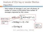 analysis of o n log n leader election algorithm4