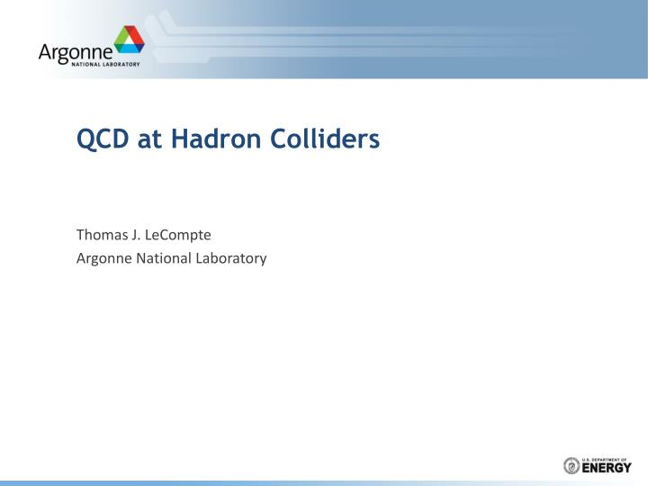 qcd at hadron colliders n.
