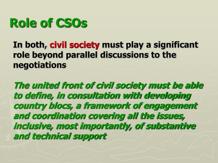Role of CSOs
