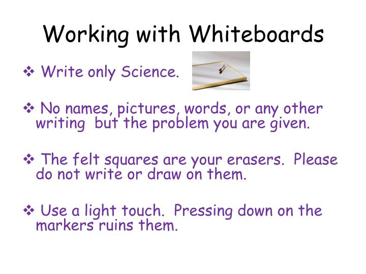 Working with Whiteboards