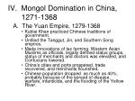 iv mongol domination in china 1271 1368