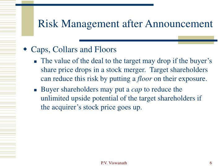 Risk Management after Announcement