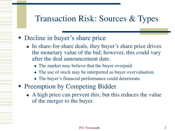 Transaction risk sources types