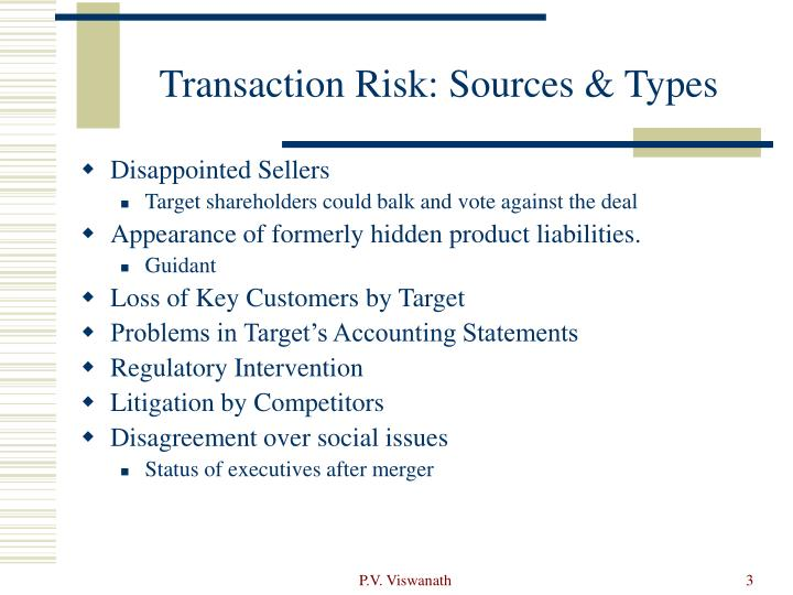 Transaction risk sources types1