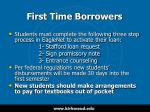 first time borrowers