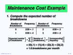 maintenance cost example1
