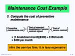 maintenance cost example3
