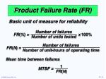 product failure rate fr
