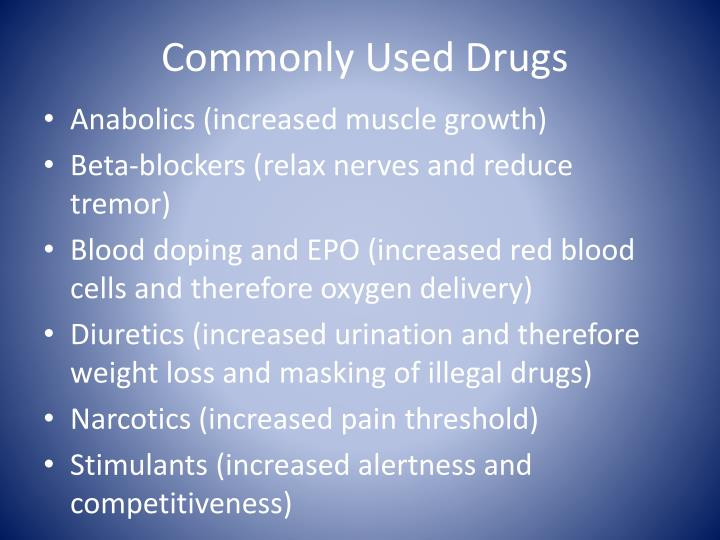 Commonly Used Drugs