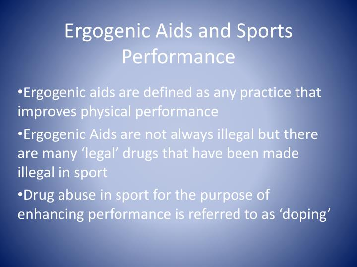 ergogenic aids and sports performance n.