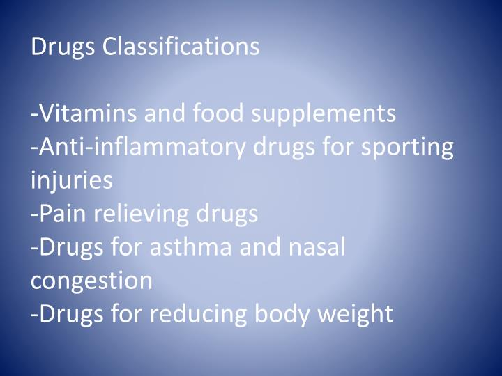 Drugs Classifications