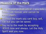 meaning of the mark