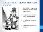 social structure of the mass society
