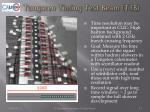 tungsten timing test beam t3b