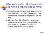 what is corporate risk management and why is it important to all firms